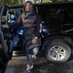 NFL Player Al-Quadin Muhammad Styles In A Rick Owens Puffer Style Long Line Gilet And Balenciaga Track Sneakers