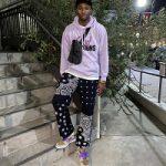 "Basketball Player Jonathan Kuminga Wears Vlone x Nav, Jaded Man & Nike Dunk Low SP ""Veneer"""