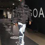 NBA Player Caris LeVert Wears A Rick Owens Black Down Asymmetric Zipper Mountain Coat
