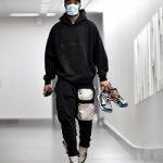 NBA Player Cassius Stanley Wears A Fear Of God Essentials x SSENSE Pullover Hoodie & Travis Scott x Nike NRG AG Utlity Sweatpants