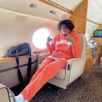 Jalen Green Looks Comfy In A Spider Sp5der Worldwide Websuit Hoodie And Sweatpants On A Private Jet