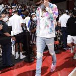 LaMelo Ball Layered In Louis Vuitton And Amiri